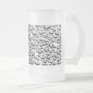 Beaded Water on Surface Frosted Glass Beer Mug