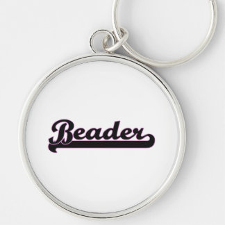 Beader Classic Job Design Silver-Colored Round Keychain