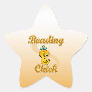Beading Chick Star Sticker