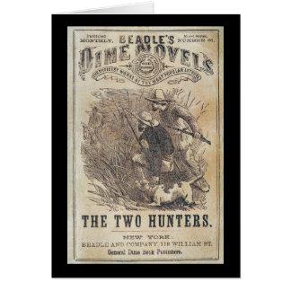 Beadles Dime Novels - The Two Hunters Card