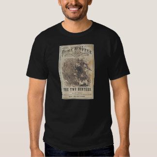 Beadles Dime Novels - The Two Hunters T-Shirt