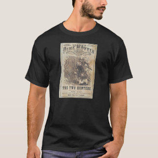 Beadles Dime Novels - The Two Hunters T-Shirt
