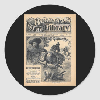 Beadles Half Dime Library Vol XXII No 560 1888 Classic Round Sticker
