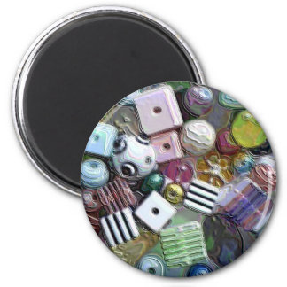 Beads 2 Inch Round Magnet