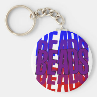 Beads, beads and more beads: Mardi Gras gear Keychain