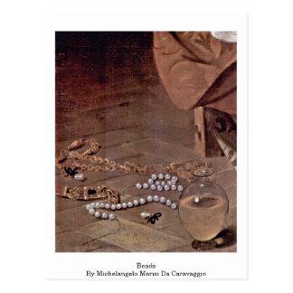 Beads By Michelangelo Merisi Da Caravaggio Postcard
