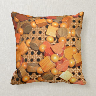 Beads, Cubes and Hearts Garland Throw Pillow