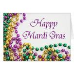 Beads Happy Mardi Gras Cards