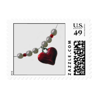 Beads Heart Postage