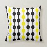 Beads in Black and Yellow Throw Pillows
