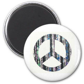 Beads in peace sign magnet