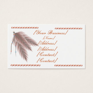 Beads N Feathers Business Card