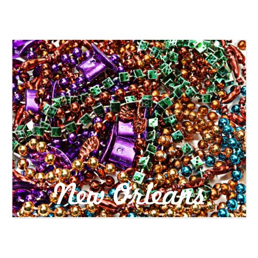 Beads, New Orleans Postcards