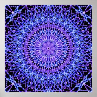 Beads of Light Mandala Poster