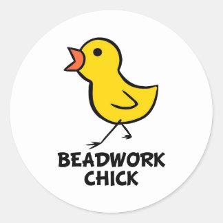 Beadwork Chick Sticker