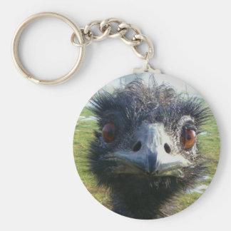Beady Eyes EMU Basic Round Button Keychain