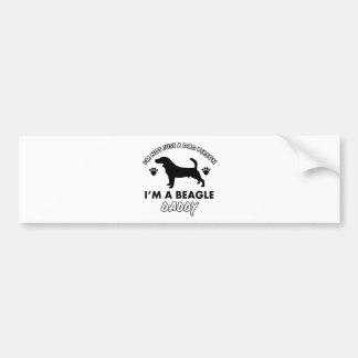 Beage Dog Daddy Bumper Sticker