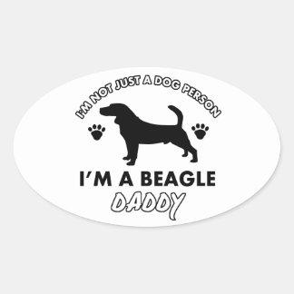 Beage Dog Daddy Oval Sticker