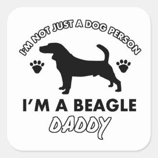 Beage Dog Daddy Square Sticker