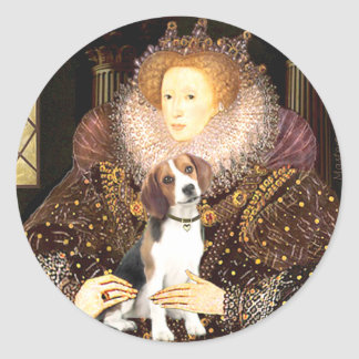 Beagle 1 - Queen Elizabeth I Classic Round Sticker