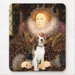 Beagle 1 - Queen Elizabeth I Mouse Pad