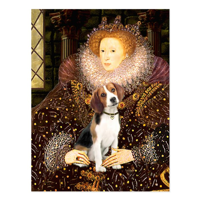 Beagle 1 - Queen Elizabeth I Postcard