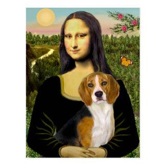 Beagle 7 - Mona Lisa Postcard
