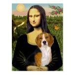 Beagle 7 - Mona Lisa Tarjetas Postales