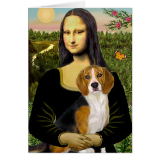 Beagle 7 - Mona Lisa Tarjetón