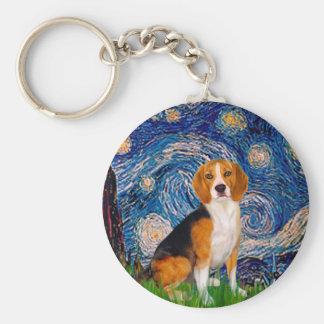 Beagle 7 - Noche estrellada Llaveros