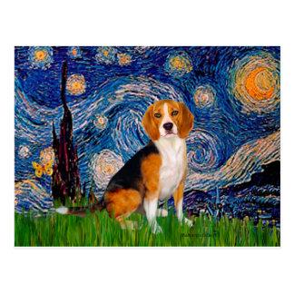 Beagle 7 - Noche estrellada Postal