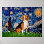 Beagle 7 - Noche estrellada Posters