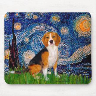 Beagle 7 - Noche estrellada Alfombrillas De Ratones