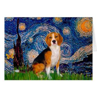 Beagle 7 - Noche estrellada Tarjetón