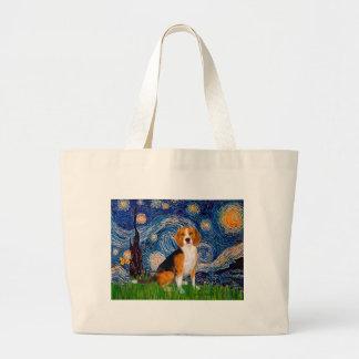 Beagle 7 - Starry Night Jumbo Tote Bag