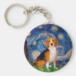 Beagle 7 - Starry Night Key Chains