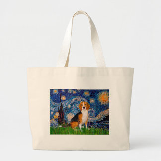 Beagle 7 - Starry Night Large Tote Bag