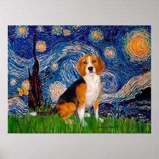 Beagle 7 - Starry Night Print