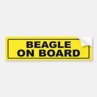 Beagle a bordo pegatina para auto