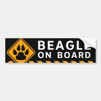Beagle a bordo pegatina para coche