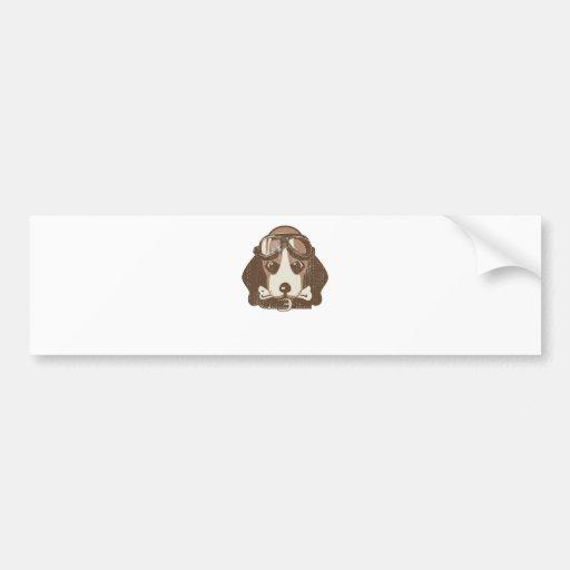 Beagle ace [editable] car bumper sticker