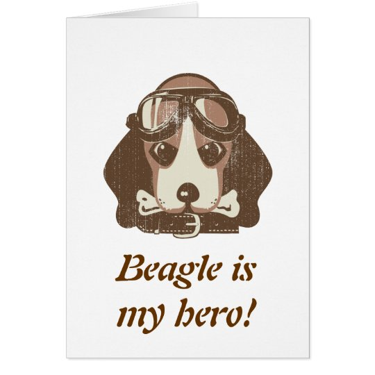 Beagle ace [editable] card