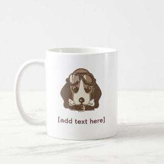 Beagle ace [editable] coffee mug