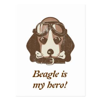 Beagle ace [editable] postcard