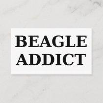 beagle addict business card