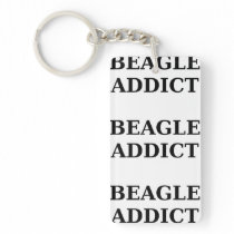 beagle addict keychain