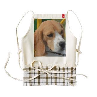 Beagle adorable delantal zazzle HEART