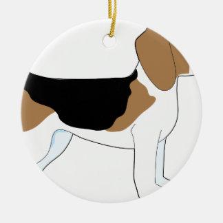 Beagle Adorno Redondo De Cerámica