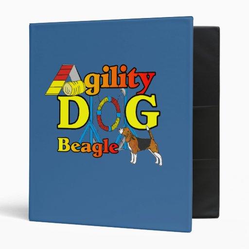 Beagle Agility Gifts 3 Ring Binder