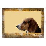 Beagle Always Love you Valentine's Day card